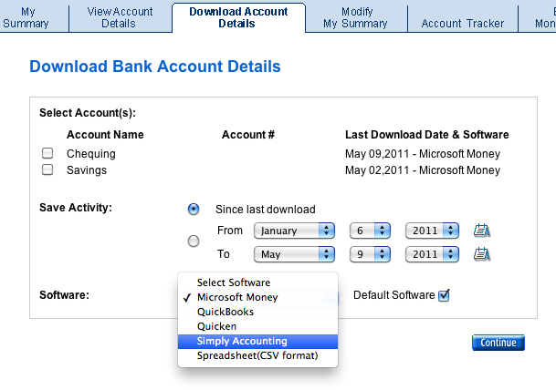 Online bank statement into Wave Accounting