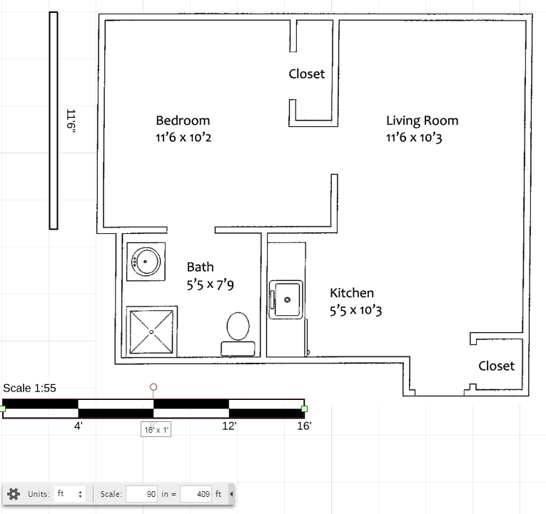 Imported Floor Plan in Lucidchart