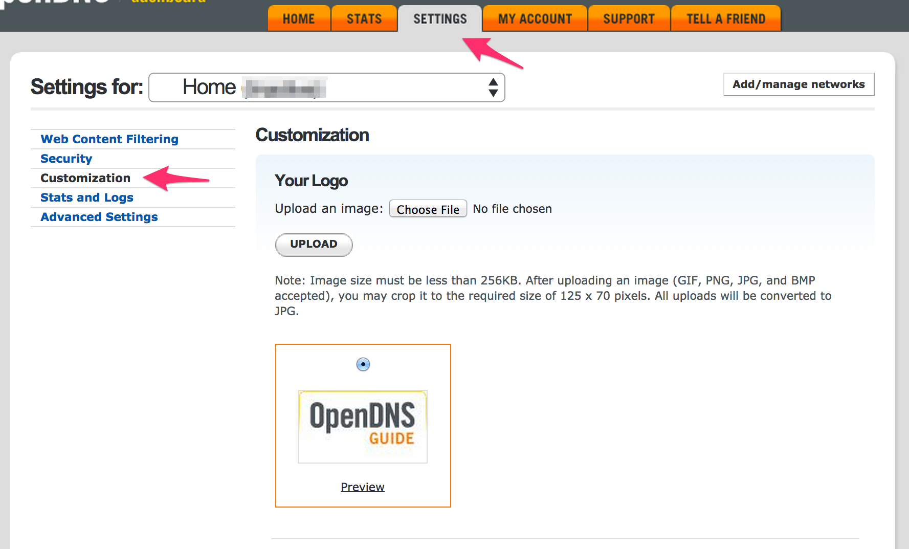 OpenDNS_Dashboard___Settings___Customization.png