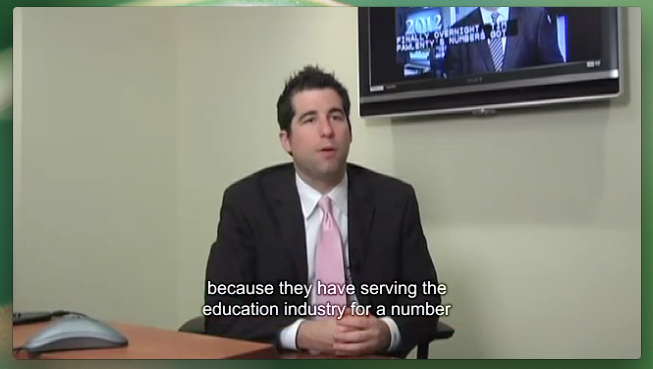 Picture of a video with captions