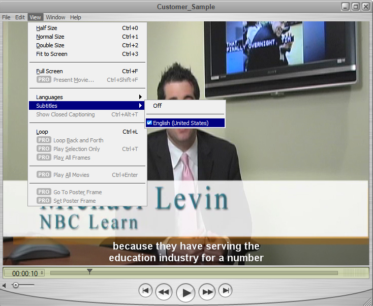 Image of the QuickTime player