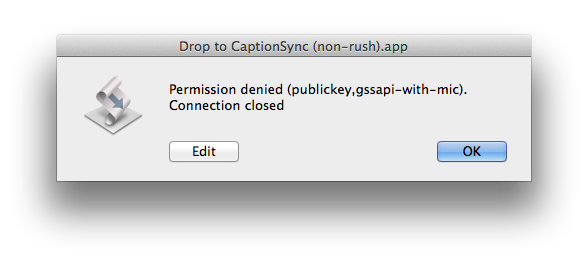 Permission denied Error Message