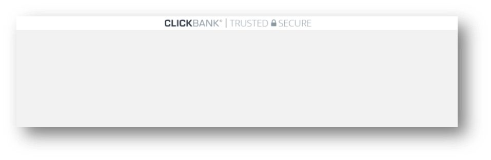 This image shows the ClickBank Trust Badge as a header bar.