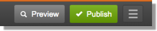 This image shows the GoDaddy Manage Site button. It is to the right of two buttons labeled Preview and Publish.