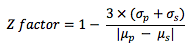 Z-factor calculation